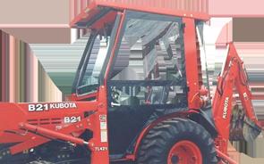 Kubota B21 Tractor Cabs And Cab Enclosures Sims Cab Depot