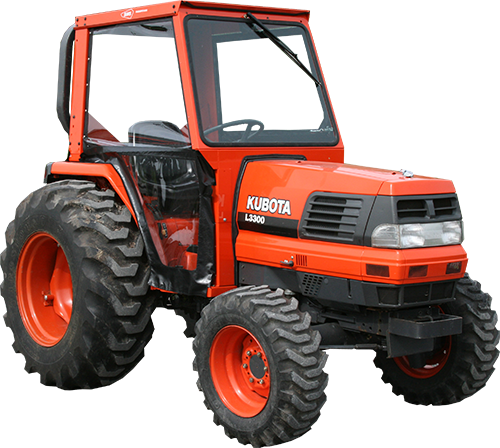 kubota l2900, l3010, l3300, l3410, l3710, l4310, l4610 tractor cabs Kubota M5640 images and optional accessories are shown here for example only and may not accurately represent the actual tractor model and or available cab accessories