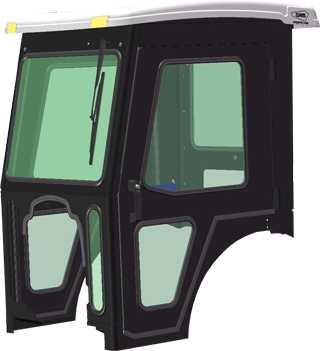 Yukon Bobcat Cab ONLY clean bobcat ct335, ct335 sst, ct440, ct445, ct445 sst, ct450, ct450 sst  at bakdesigns.co